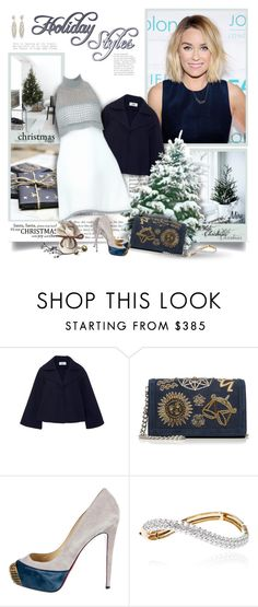 """""""Merry Christmas!"""" by thewondersoffashion ❤ liked on Polyvore featuring Andrea, CO, Emilio Pucci, Chanel, Christian Louboutin, Sidney Garber, emiliopucci, christianlouboutin, laurenconrad and holidaystyle"""
