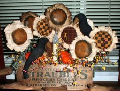 """The Best Free Crafts Articles: How To Create Fabric """"Prim"""" Sunflowers by Denise Bailey"""