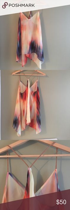 Lavender Brown 100% Silk Racerback Tank Top -CONDITION: EUC! NWOT--Never Worn -100% Silk                                                                                                              -Questions and offers always welcome  -Pet friendly home but smoke free Lavender Brown Tops