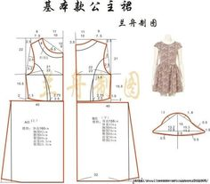 The best DIY projects & DIY ideas and tutorials: sewing, paper craft, DIY. Sewing Patterns Free, Sewing Tutorials, Clothing Patterns, Diy Clothing, Sewing Clothes, Fashion Sewing, Diy Fashion, Dress Making Patterns, Pattern Cutting