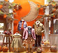 Window Display - VM - Store Interior - Ralph Lauren Children's Store window with PlanetJune Fruit Bats