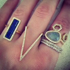 Pave Deep V Ring - Melanie Auld