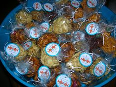 Fish Theme Wedding Favors | The favors were assorted goldfish crackers packaged in clear bags with ...