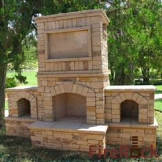 Fireplace outdoor and Mantels