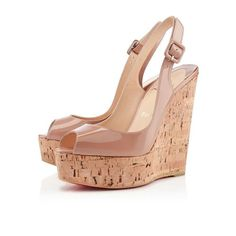 Christian Louboutin Une plume 140mm Wedges Nude