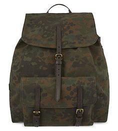 bd6f3609b894 Burberry s Brookdale camouflage backpack Camo Bag, Camouflage Backpack,  Leather Backpack, Burberry, Classic