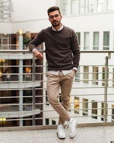 Macho Moda - Blog de Moda Masculina: Por que você PRECISA de mais Roupas em TONS TERROSOS? 5 Provas IMPOSSÍVEIS de ignorar! Swag Style, Style Casual, Casual Street Style, Men Casual, Men's Style, Style Blog, Smart Casual, Mens Fashion Blog, Mens Fashion Suits