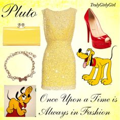 Disney Style: Pluto, created by trulygirlygirl Disney Outfits, Disney Bound Outfits Casual, Nerd Outfits, Friend Outfits, Disney Dresses, Disney Costumes, Disney Clothes, Disney Princess Fashion, Disney Inspired Fashion