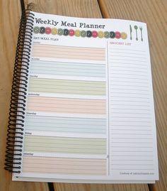 FREE PRINTABLE Weekly Menu Planner with Tear-Away Grocery List