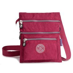 6b88838c9210 Women Nylon Waterproof Shoulder Bags Casual Multi Pockets Crossbody Bags  Messeng - US 12.99 Travel Handbags