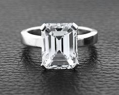 Emerald cut engagement ring!