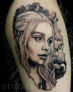 LOVE this Game of Thrones tattoo! The eyes are done beautifully!