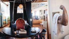 Art a la Rue Ken Fulk, Studio Art, Art Studios, Interior And Exterior, Oversized Mirror, Interiors, Spaces, Furniture, Home Decor