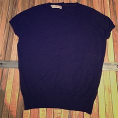 Zara black sweater Very short sleeves black sweater. Size small but fits closer to an Extra small Zara Sweaters Crew & Scoop Necks