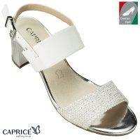 Caprice női bőr szandál 9 28302 20 114 fehér kombi | Szandálok