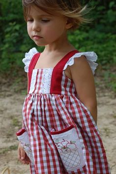 Well Dressed Wolf Apple Dress scored in a 12 month for Vivi's 9 month pics at the Orchard Little Girl Outfits, Little Girl Fashion, Toddler Outfits, Kids Outfits, Kids Fashion, Farm Outfits, Farm Clothes, Doll Clothes, Well Dressed Wolf