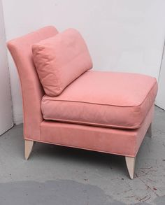 Thayer Coggin Pink Slipper Chairs, 1970s, USA | From A Unique Collection Of  Antique And Modern Slipper Chairs At ...