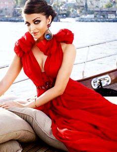 In Jenny Packham. thefashionprincess:  Aishwarya Rai for Vogue India