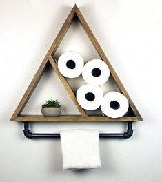 decor diy Bathroom Triangle Shelf with Industrial Towel Bar Bathroom Towel Storage, Diy Bathroom, Bathroom Towels, Bathroom Ideas, Bathroom Makeovers, Neutral Bathroom, Simple Bathroom, Bathroom Canvas, Shower Ideas
