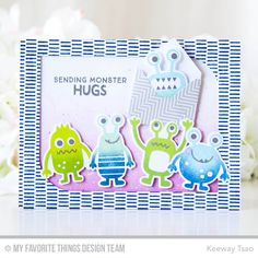More Monsters Stamp Set and Die-namics, Make Your Mark Background, Mod Rectangle STAX Die-namics, Mini Mail Die-namics - Keeway Tsao  #mftstamps