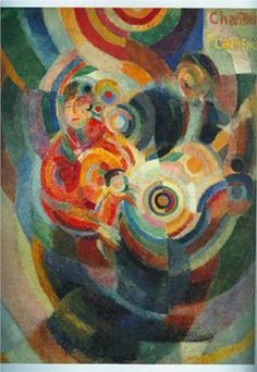 SONIA DELAUNAY.... 1916... .. Look for the Flamenco Singer and Guitarist in the color wheels..... .11/14/1885--12/5/1979