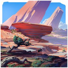 The amazing digital art — Square landscapes 2 by Anton Fadeev Landscape Concept, Fantasy Landscape, Landscape Art, Landscape Paintings, Fantasy Art, Landscapes, Environment Painting, Environment Concept, Environment Design