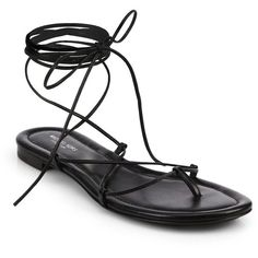 Michael Kors Bradshaw Lace-Up Leather Sandals ($350) ❤ liked on Polyvore featuring shoes, sandals, flats, flat sandals, zapatos, apparel & accessories, lace up sandals, leather flat shoes, flat shoes and flats sandals
