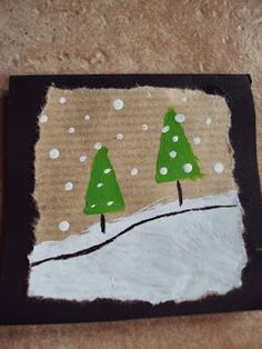 fun play with kids Diy Christmas Cards, Christmas Mood, Xmas Cards, Kids Christmas, Christmas Crafts, Winter Crafts For Kids, Art For Kids, Childrens Christmas, Theme Noel