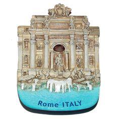 Resin Fridge Magnet: Italy. Trevi Fountain in Rome