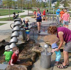 Water Playground, Natural Playground, Playground Design, Children Playground, Kids Play Spaces, Grand Hyatt, Urban Planning, Landscape Architecture, Games For Kids