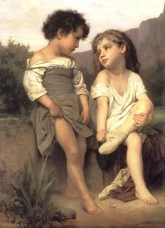 William-Adolphe Bouguereau (1825-1905) - At the Edge of the Brook (1879) - William-Adolphe Bouguereau