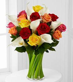 Color Crush Rose & Calla Lily Bouquet - 21 Stems - 25% off!