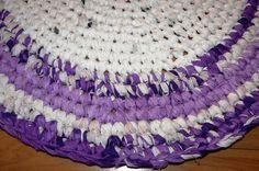 Shabby Chic Häkelteppich Crochet Rug    In liebevoller Handarbeit     Dieser Teppich ist ein *Unikat*    Farbabweichung durch Digitalaufnahme mögli...
