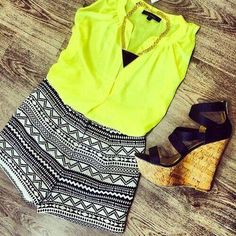 summer,outfit,cute,simple,fashion,yellow,shoes,cute