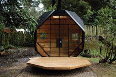 "external / backyard private space ... ""Habitable Polyhedron"" | Architect: Manuel Villa | Location: Bogota, Colombia | Photographs: Manuel Villa / Sergio Gómez"