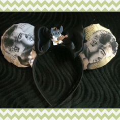 Items similar to Elvis and Stitch Mouse Ears on Etsy Mouse Ears Headband, Ear Headbands, Mickey Mouse Ears, Disney Ears, Stitch Ears, Disney Diy, Bows, Craft Ideas, Unique Jewelry