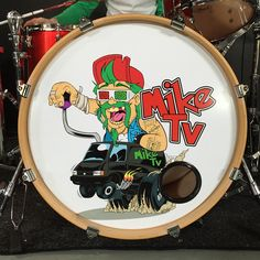 Custom bass drum skin for the pop punk band - www.miketvmusic.com - get yours for only £95 from www.awesomemerch.com :)