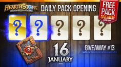 FREE Pack Giveaway #13 / Golden Rare & Rare Cards! Hearthstone Packs Ope...