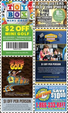 Smoky Mountains - Pigeon Forge Coupons - Gatlinburg Discount Coupons Gatlinburg Coupons, Smoky Mountains Attractions, Old Time Photos, Tupperware Recipes, Four Sisters, Arrow Signs, Mountain Vacations, Tennessee Vacation, Shopping Coupons