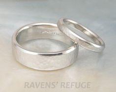 men's wedding band rustic rose gold wedding ring by RavensRefuge