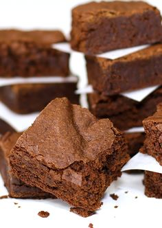 """<p>LAZY DAY BROWNIES - Perfectly chocolaty, moist and delicious. 1 bowl and 25 minutes until you can dive into this fabulous treat! Add candy pieces to personalize this recipe as an awesome gift!</p> <p><a title=""""Lazy Day Brownies Recipe"""" href=""""http://www.theslowroasteditalian.com/2013/05/lazy-day-brownies.html"""" target=""""_blank""""><strong>GET RECIPE</strong></a></p>"""