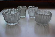 A set of 4 Jäkälä (Lichen, Jakala) Finger Vase from Tapio Wirkkala Iittala