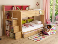 Harbour Storage Bunk Bed – £665.98  The creative spirit of Parisot is evidenced in this Harbour Bunk Bed (also known as the Pop Bunk Bed), also from Furniture 123,  which manages to squeeze as much storage space as possible into its design with apparent ease.