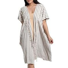 These classic nautical stripe kimonos never go out of style! Easy to throw on after a swim or just to lounge poolside. Hand-loomed from the same cotton as our super soft Turkish towels so they are perfect for travel and dry quickly. Summer Kimono, Turkish Towels, Festival Wear, Lounge Wear, Going Out, Wrap Dress, Tie Dye, Summer Outfits, Nautical