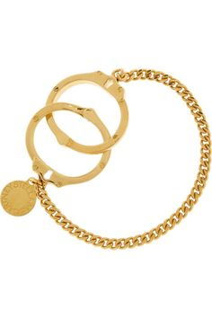 Gold Stella Mccartney Cuff Bracelet #Jewelry