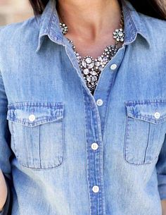 I LO V E BLING with denim!
