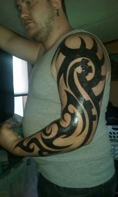 Freehand tribal done in Hutchinson MN