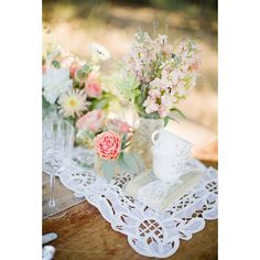 Rustic Pink and Blush Wedding Centerpiece Wedding Flowers ❤ liked on Polyvore featuring home, home decor, pink home decor, pink centerpieces, rustic home decor, rustic centerpieces and rustic home accessories