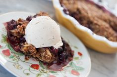 Healthy-ish Berry Crumble with Banana Ice Cream — Jesse Tyler Ferguson