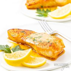 This pan seared halibut recipe with lemon butter sauce takes just 20 minutes. which you'd never guess with how fancy pan fried halibut looks. I'll show you how to pan sear halibut, plus how to make the perfect sauce for halibut. Pan Seared Halibut Recipes, Grilled Halibut, Lemon Recipes, Fish Recipes, Seafood Recipes, Low Carb Dinner Recipes, Cooking Recipes, Healthy Recipes, Simple Recipes